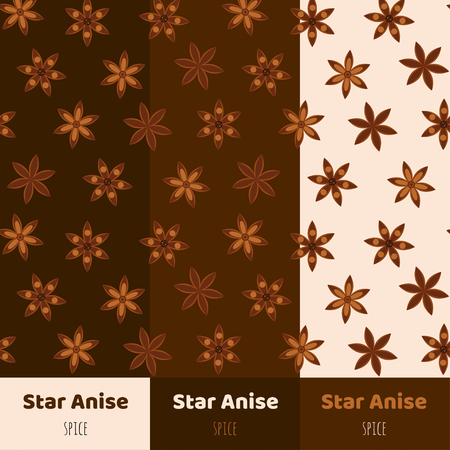vector illustration. seamless background. Pattern with anise stars. badian. Packaging.