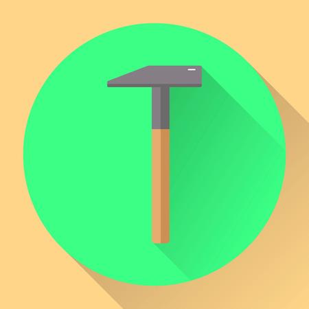 flat icon, hammer