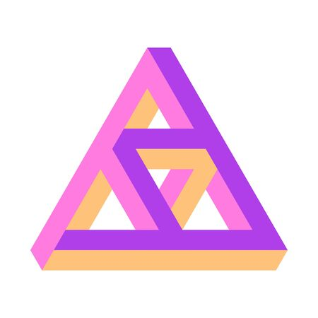 illustration of the Penrose triangle, triforce