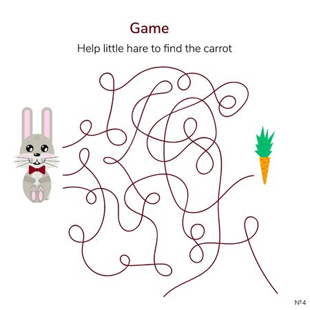 illustration. game for children. maze or labyrinth for kids