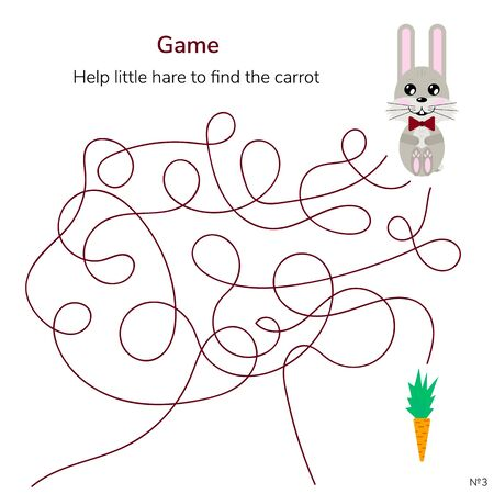 illustration. game for children. maze or labyrinth for kids Imagens - 130116809