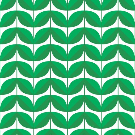 illustration, seamless pattern, background green leaves Imagens - 132204698