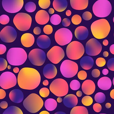 illustration. seamless pattern. fluid colors round shapes, gradient, mesh, pink purple yellow