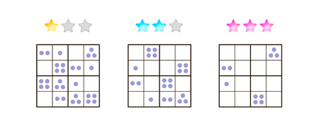 illustration. Sudoku for kids with pictures at different levels of complexity. Logic game for preschool children. Educational game. rebus. point. Banque d'images - 117470527