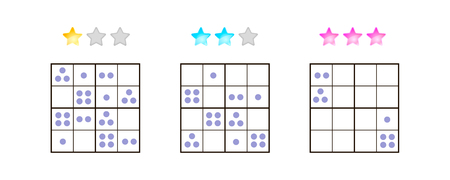 illustration. Sudoku for kids with pictures at different levels of complexity. Logic game for preschool children. Educational game. rebus. point.