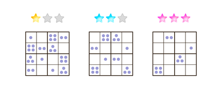 illustration. Sudoku for kids with pictures at different levels of complexity. Logic game for preschool children. Educational game. rebus. point. Banque d'images - 117470529