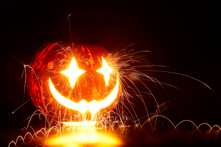 Halloween Pumpkin with sparks