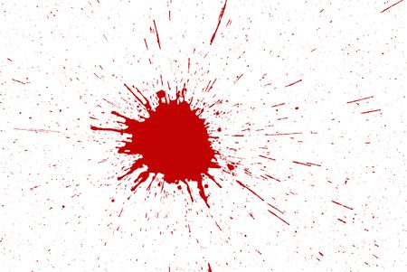 Red ink splashes Stock Photo