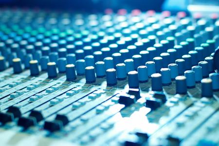 audio mixer: soundmixer in the nightclub Stock Photo
