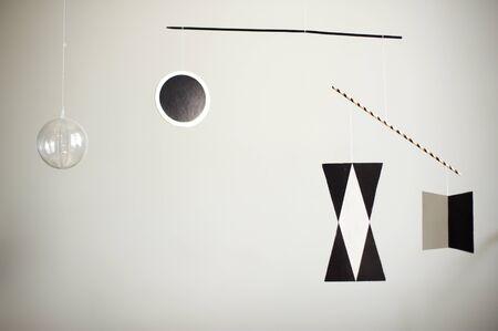 Munari Montessori mobile close-up on a white background Фото со стока