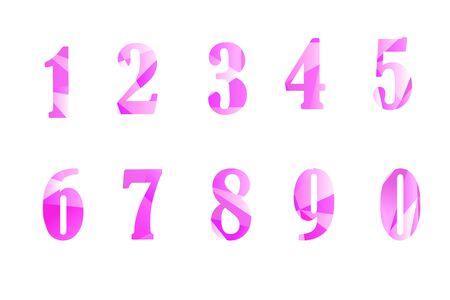 Colored diamonds numerals Illustration