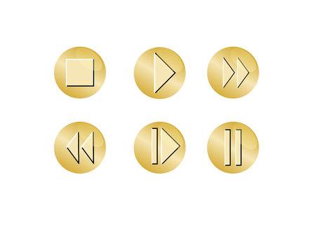 Player button icon. Illustration
