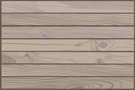 Wood texture with wooden boards. Background Table. Floor. Wooden surfaces. Vector illustration