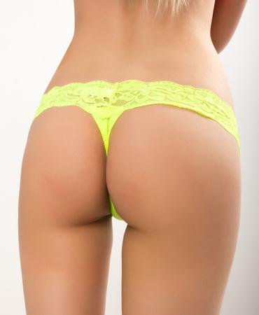 ass slim girl in lace panties