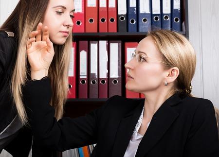 セクハラ。女性の上司に女性社員性的いたずら。 写真素材