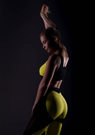 beautyful fitness woman after exercise, trained female body, healthy lifestyle concept Stock fotó