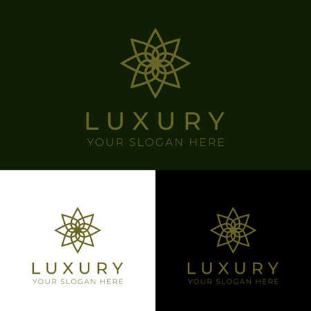 Luxury, modern, icon template. great for a company with elegant, high-class business.