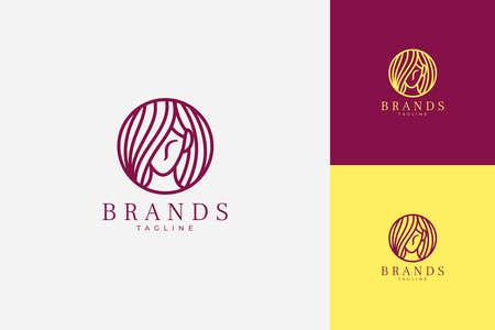 Beauty Care Line Art Logo Vector. minimalist moddern logo for beauty care salon or product. Vettoriali