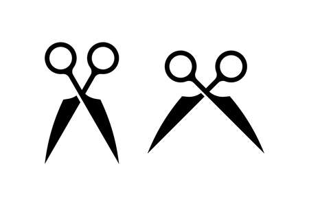 Scissors shape vector drawing. great for any purpose of design