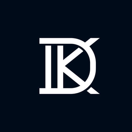 DK or KD modern monogram logo template vector illustration. Great for business that has DK or KD as their initial name