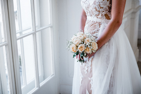 bridal with bouquet