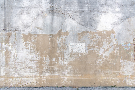 Distressed concrete and stucco wall with cracks and peeling paint, a vintage look. Reklamní fotografie