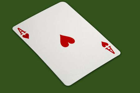 rummy: Ace of Hearts Stock Photo