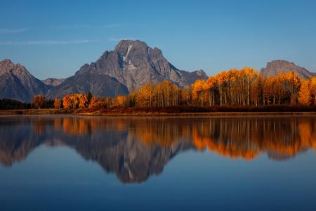 Oxbow Bend Autumn Reflection, Grand Teton National Park