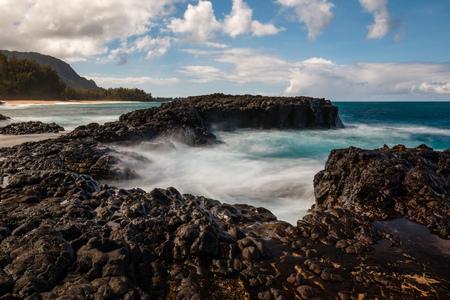 Waves at Makahoa Point, Kauai, Hawaii