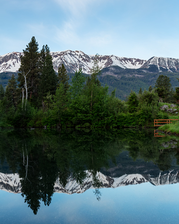 Wallowa Mountains Reflected in a Pond, Oregon