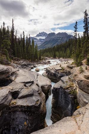 Mistaya Canyon in Banff National Park, Alberta Reklamní fotografie