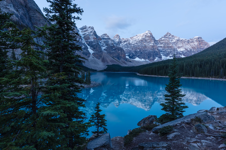 Early Morning at Moraine Lake in Banff National Park