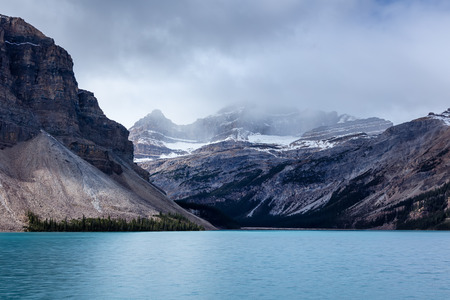 Turquoise-Colored Bow Lake in Banff National Park