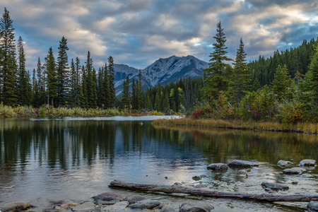 Early Morning at Mount Lorette Ponds, Kananaskis Country, Canada