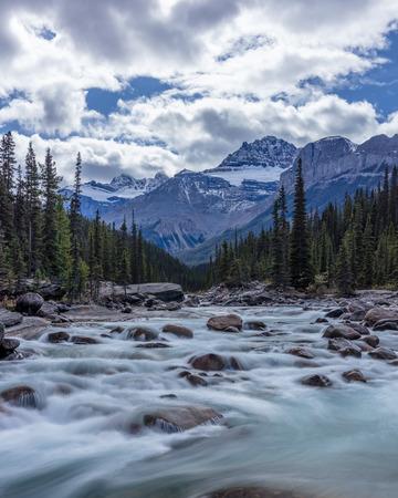 Mistaya River in Banff National Park, Alberta