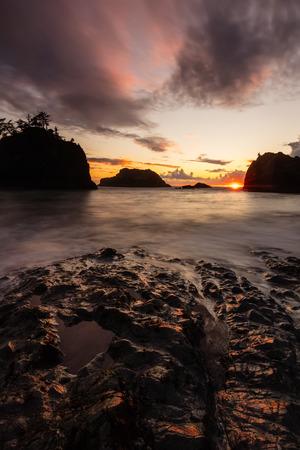 Sunset at Secret Beach on the Southern Oregon Coast