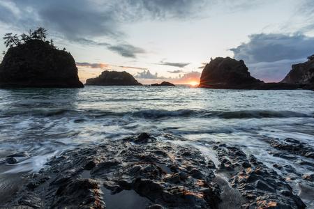 Secret Beach on the Oregon Coast, Blue Hour