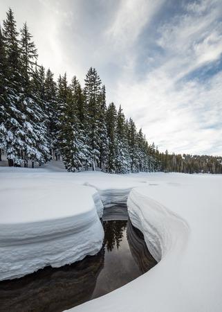 Todd Creek near Todd Lake in Winter, Deschutes National Forest, Oregon