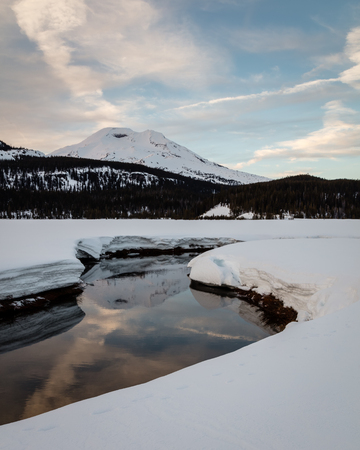 South Sister Reflected in Soda Creek, Deschutes National Forest, Oregon