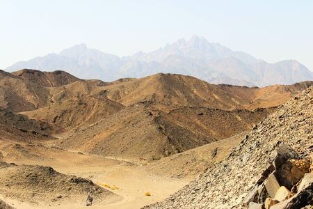 Landscape with views of the Red Sea mountains photo