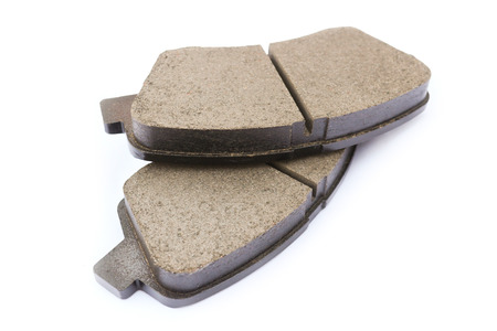 Brake pads for the front suspension of the car 版權商用圖片