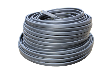 Kupfer-Drähte In Ein Elektrisches Kabel Lizenzfreie Fotos, Bilder ...