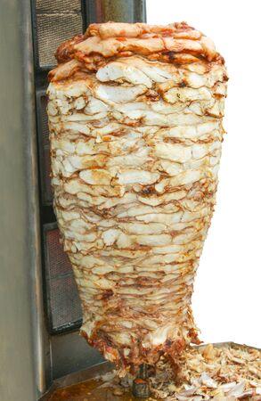 pollo rostizado: M�quina Grill para cocinar shawarma de carne en Asia Central