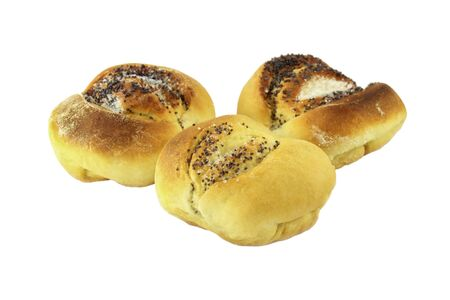 pone: Buns with poppy seeds and sugar isolated on white