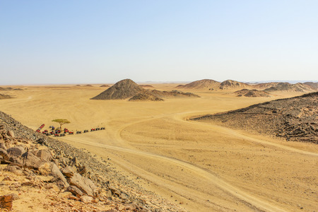 insipid: The scenery in the mountains of the Red Sea with views of the desert Stock Photo