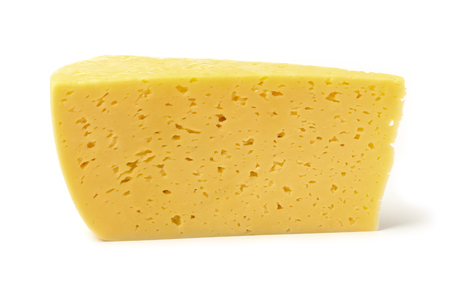 Piece of cheese isolated on white background 写真素材