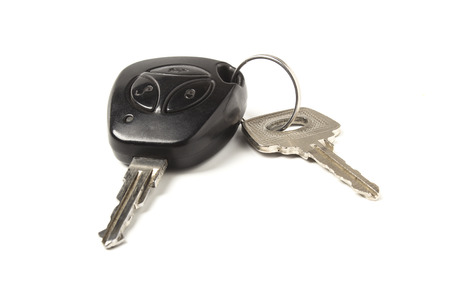 Car keys isolated on white background