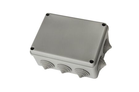 Plastic junction box for electrical wiring installation