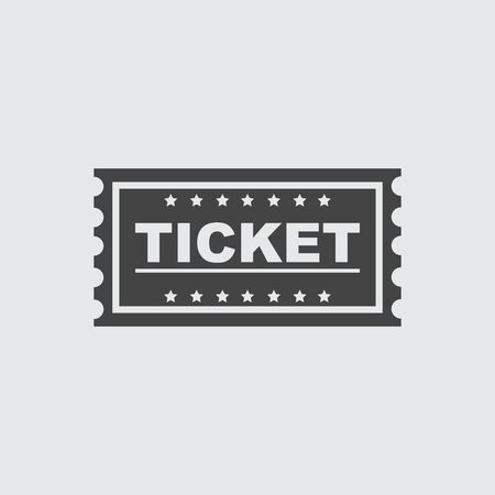 Ticket icon flat Illustration