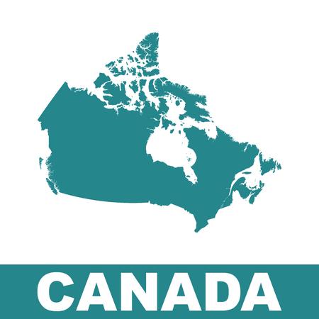 edward: Canada map. Illustration